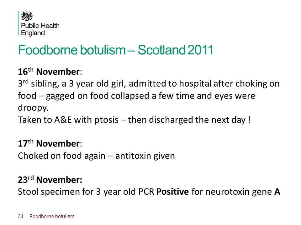 Foodborne botulism – Scotland 2011