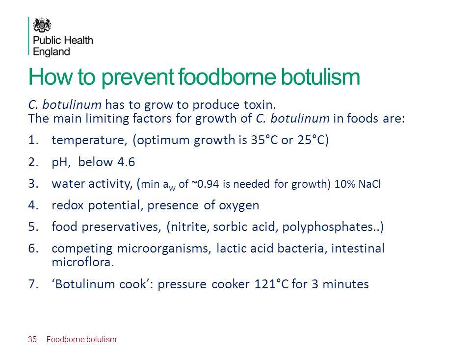 How to prevent foodborne botulism