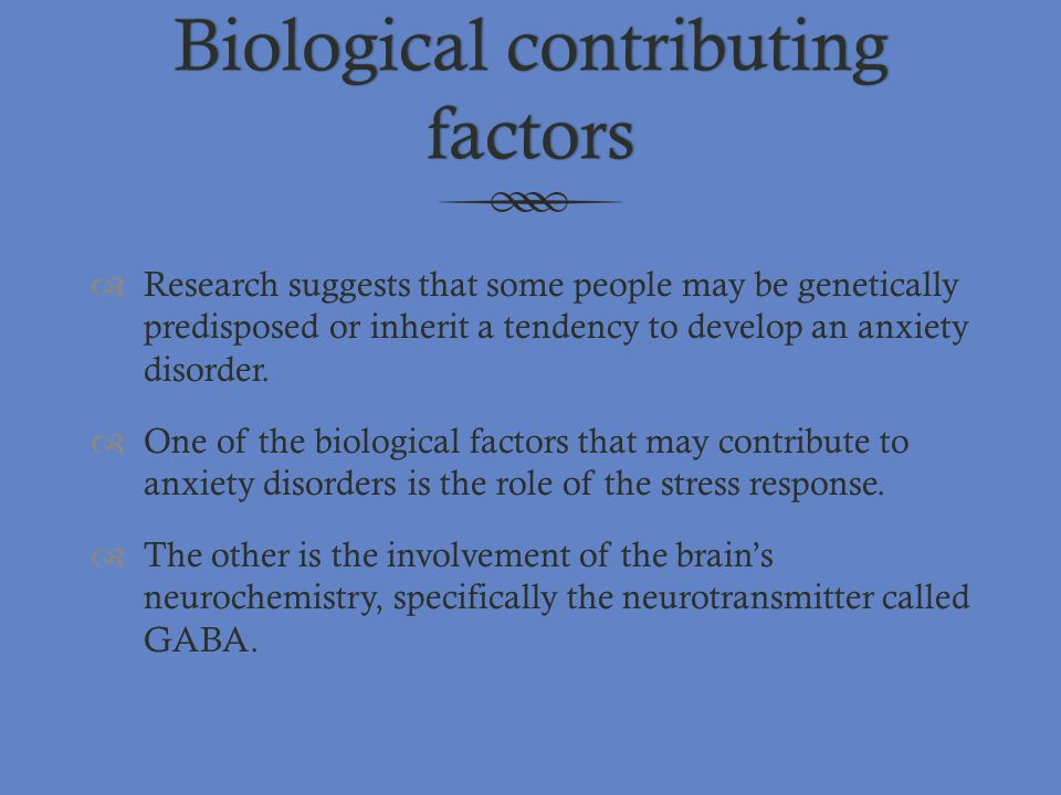 Biological contributing factors