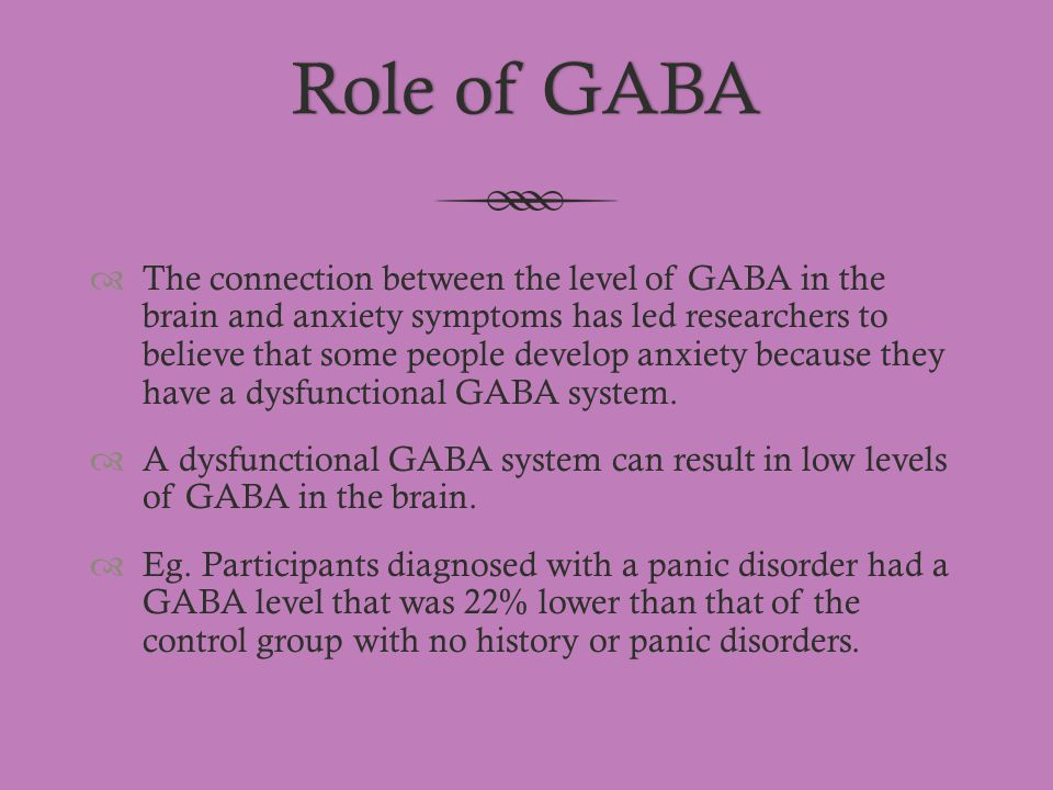Role of GABA
