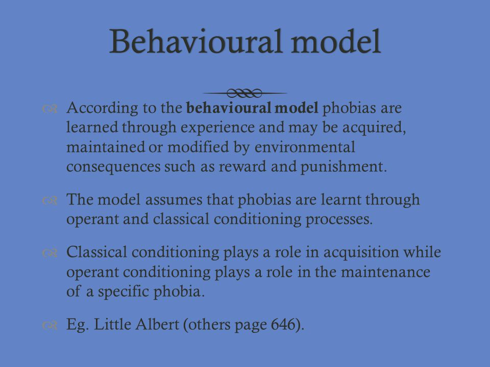 Behavioural model