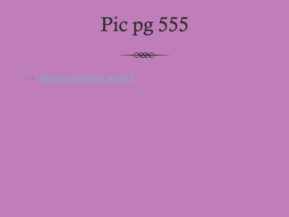 Pic pg 555 Biopsychosocial model
