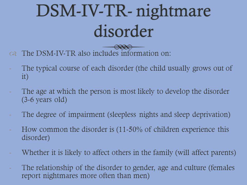 DSM-IV-TR- nightmare disorder