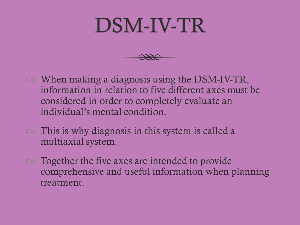 dsm iv tr book review Better known as the dsm-iv, the manual is published by the american psychiatric association and covers all mental health disorders for both children and the book is typically considered the 'bible' for any professional who makes psychiatric diagnoses in the united states and many other countries.