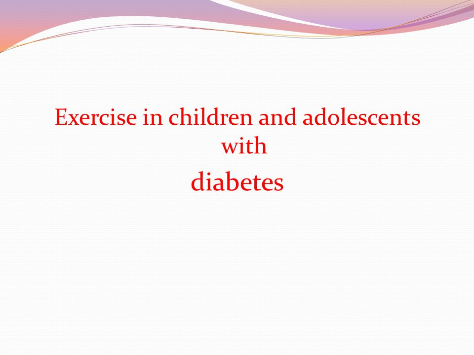 Exercise in children and adolescents with