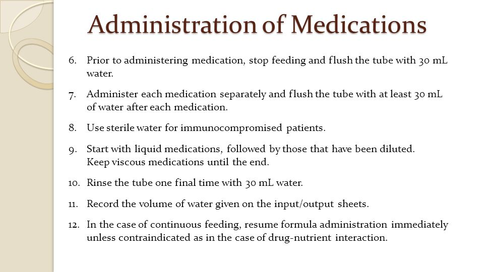 Administration of Medications