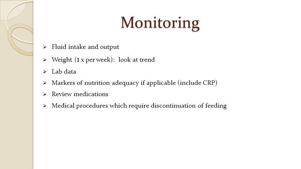 Monitoring Fluid intake and output