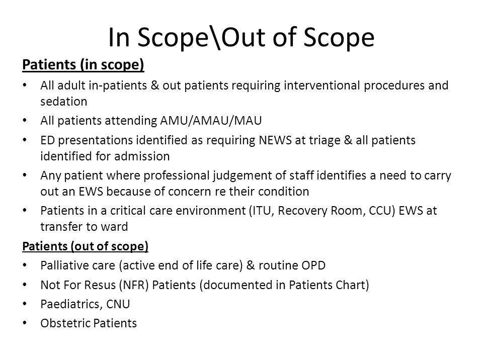 In Scope\Out of Scope Patients (in scope)