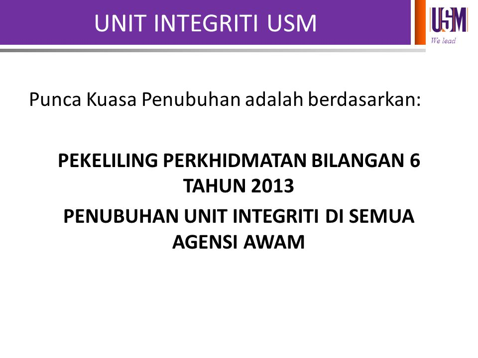 UNIT INTEGRITI USM