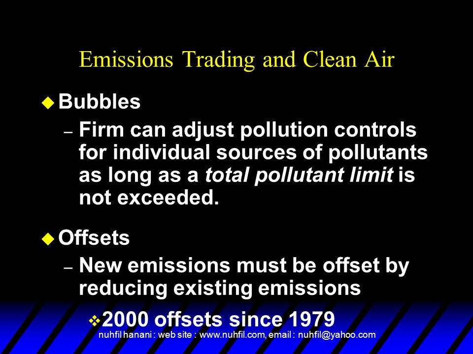 Emissions Trading and Clean Air