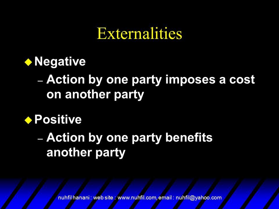 Externalities Negative