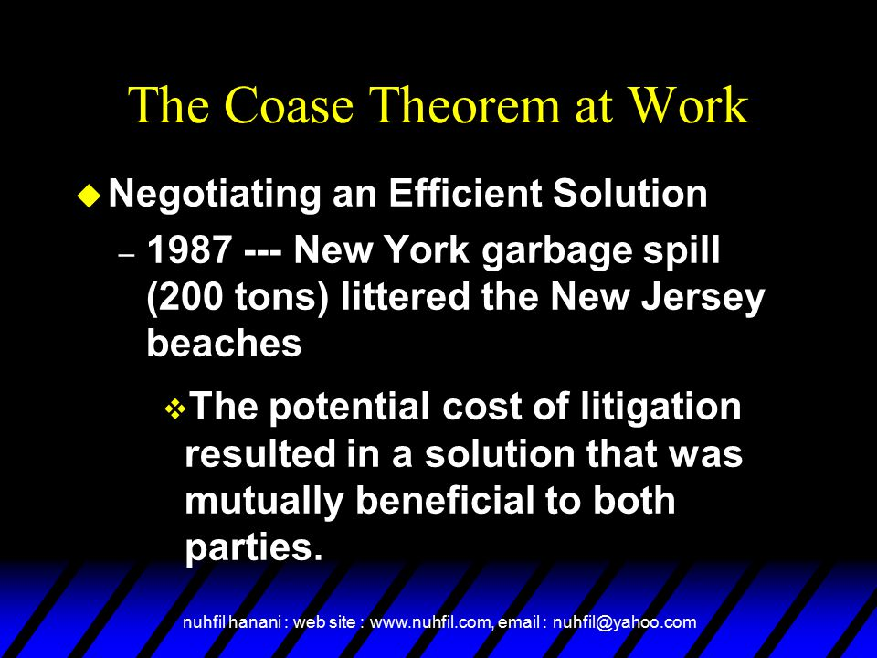 The Coase Theorem at Work