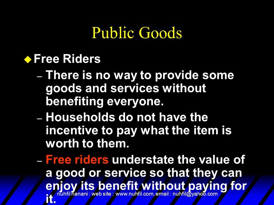 Public Goods Free Riders