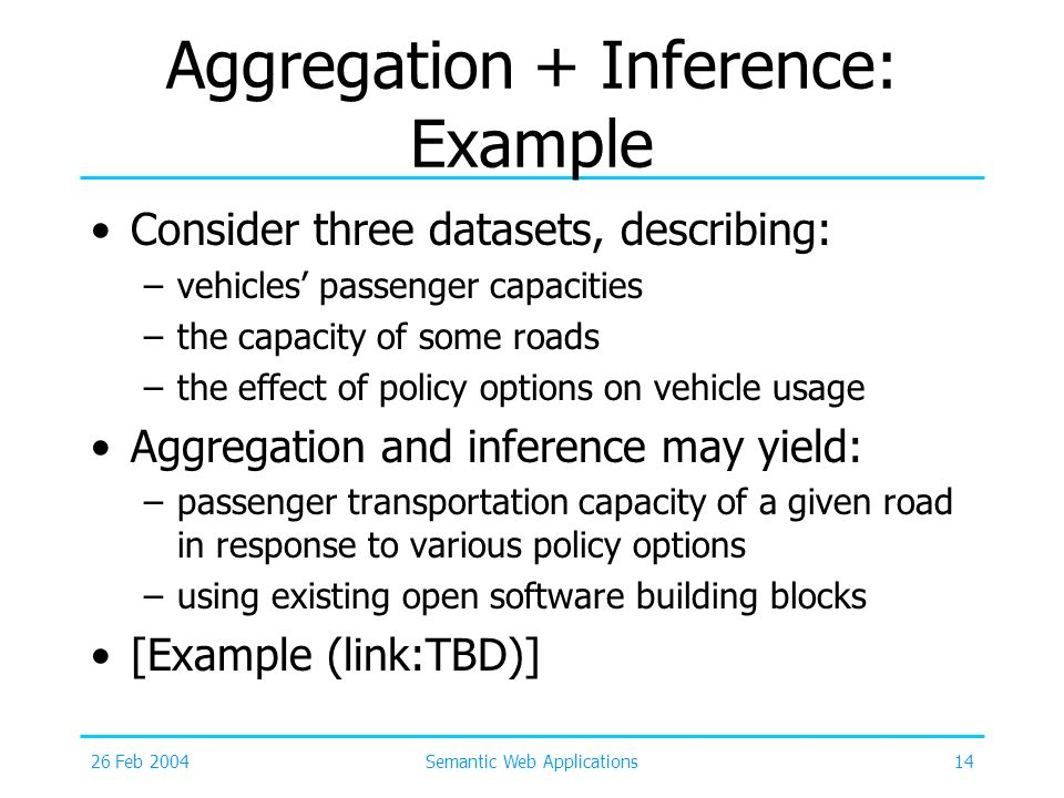 Aggregation + Inference: Example