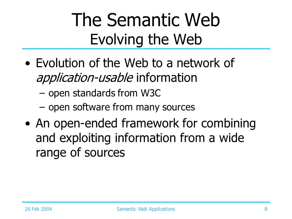 The Semantic Web Evolving the Web