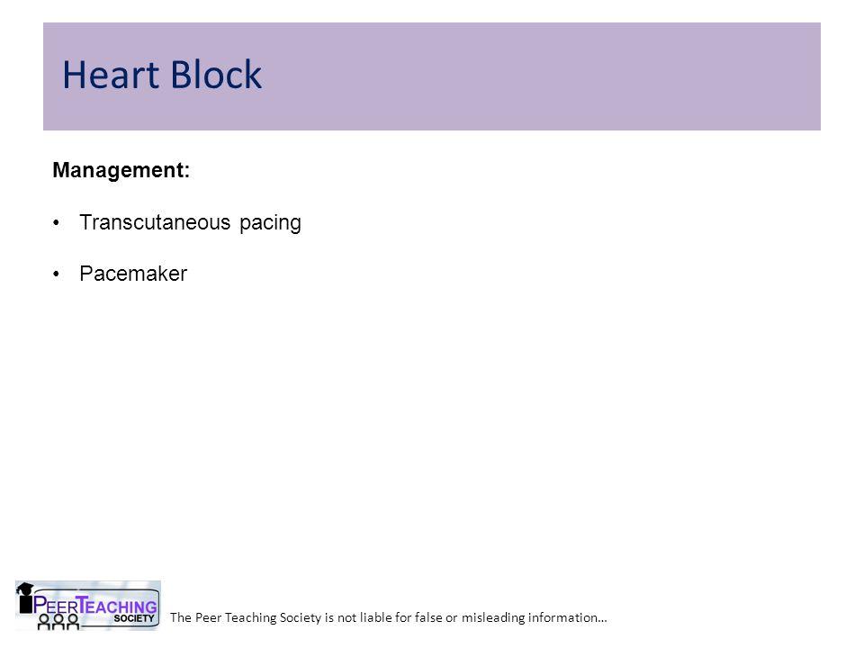 Heart Block Management: Transcutaneous pacing Pacemaker