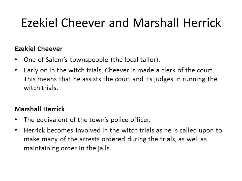 Ezekiel Cheever and Marshall Herrick