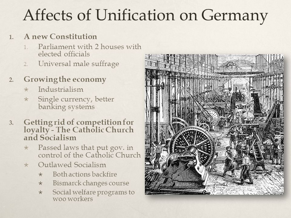 Affects of Unification on Germany