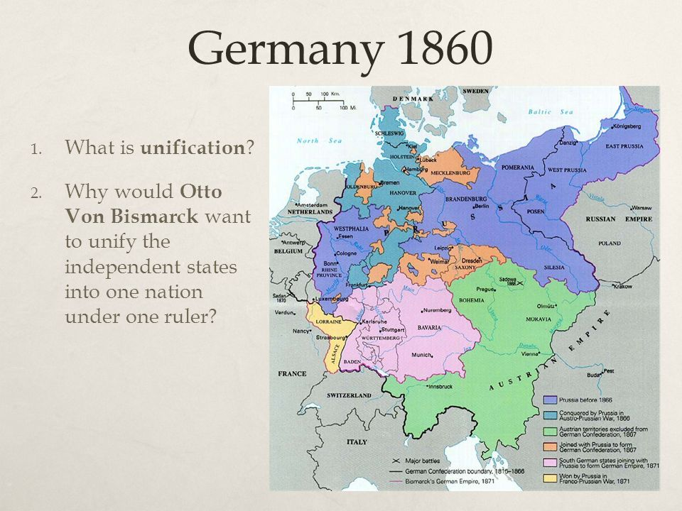 german nationalism and unification Gradually, authoritarian rulers began to see that nationalism could also unify   prussia gained control of the newly organized north german confederation, a.