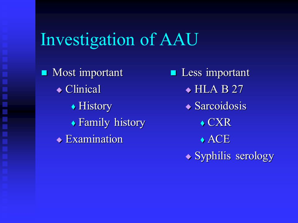 Investigation of AAU Most important Clinical History Family history