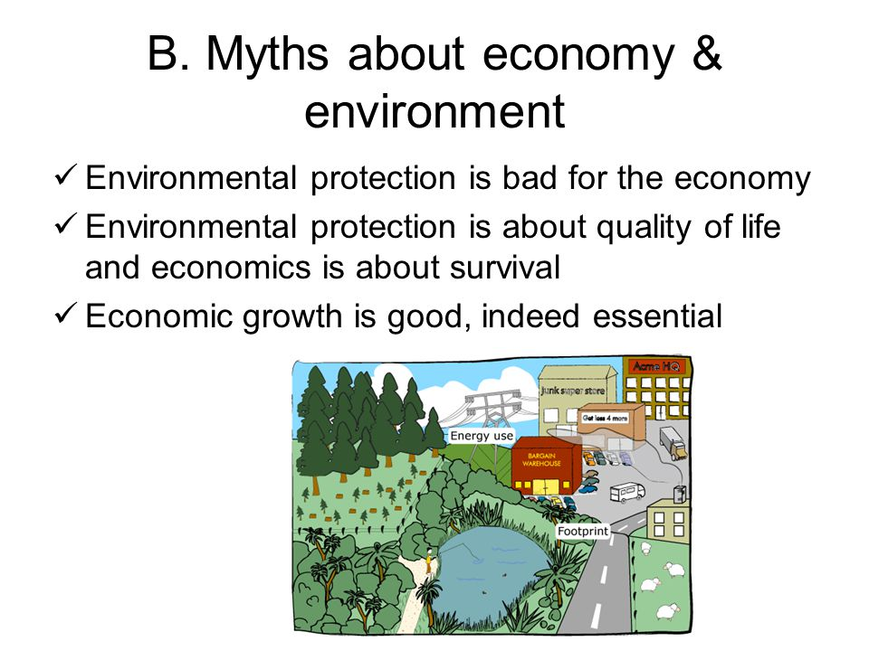 B. Myths about economy & environment