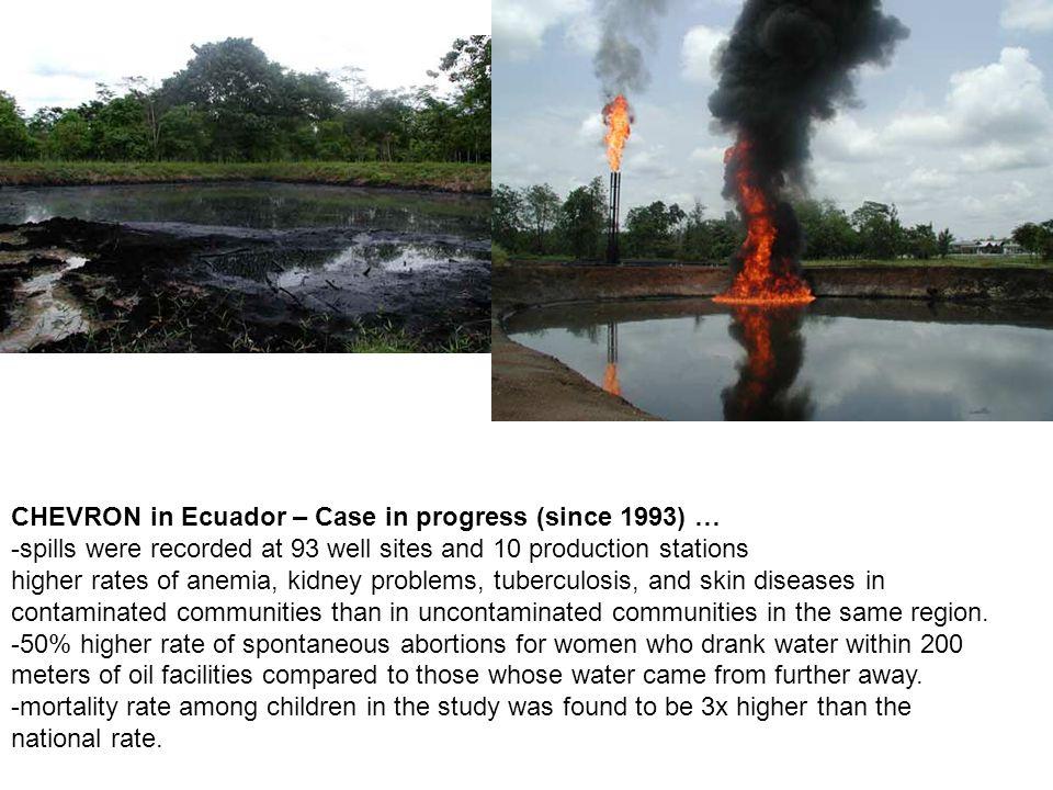 CHEVRON in Ecuador – Case in progress (since 1993) …
