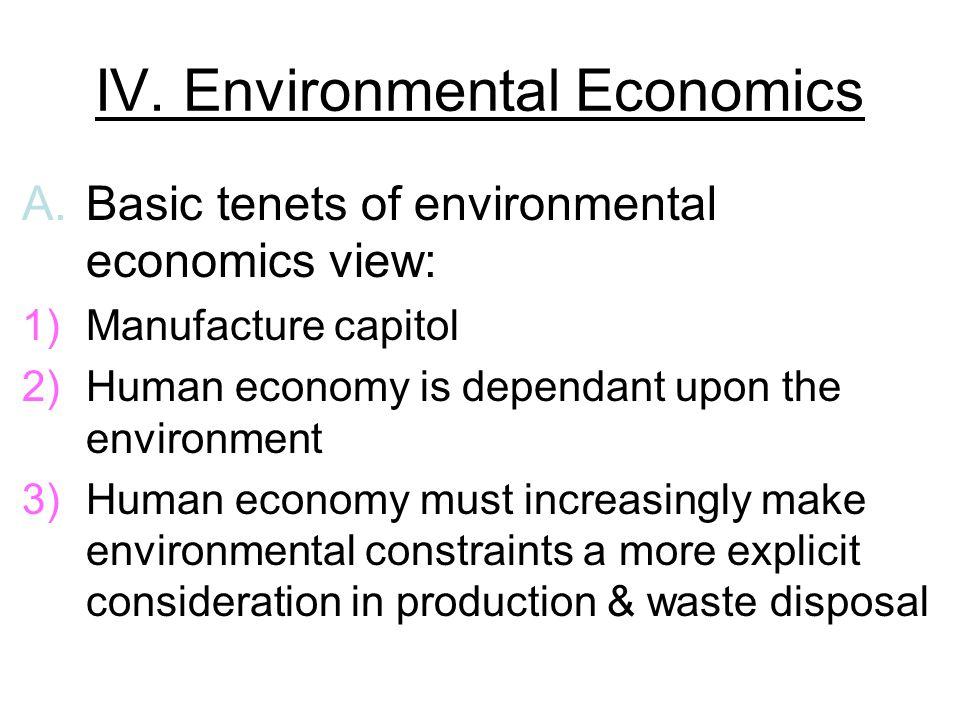 IV. Environmental Economics