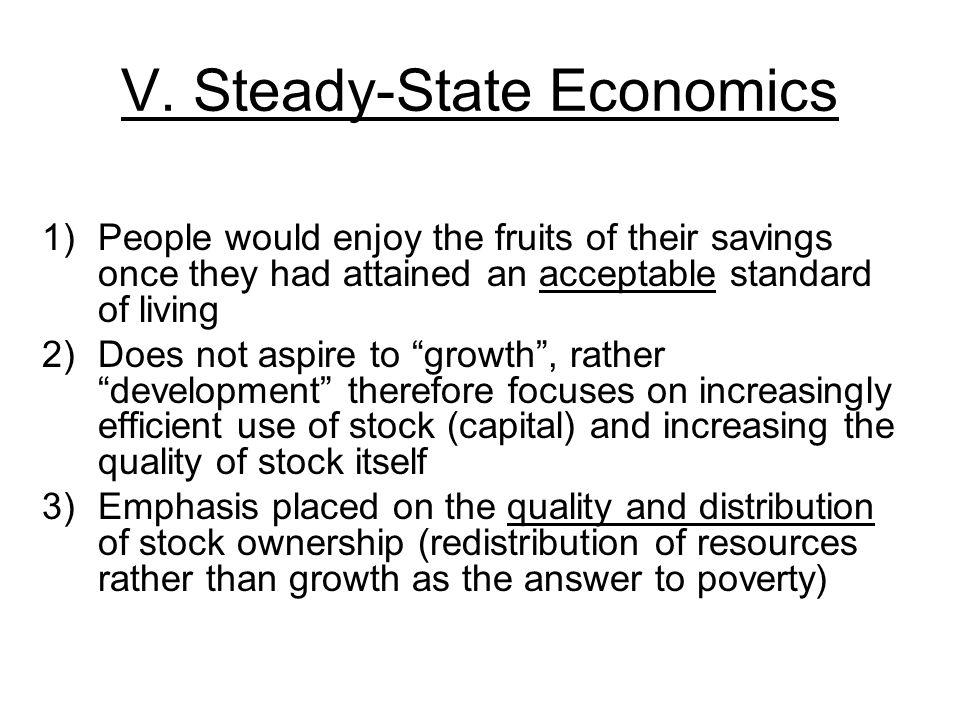 V. Steady-State Economics
