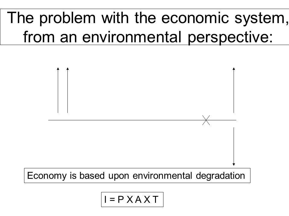 The problem with the economic system, from an environmental perspective: