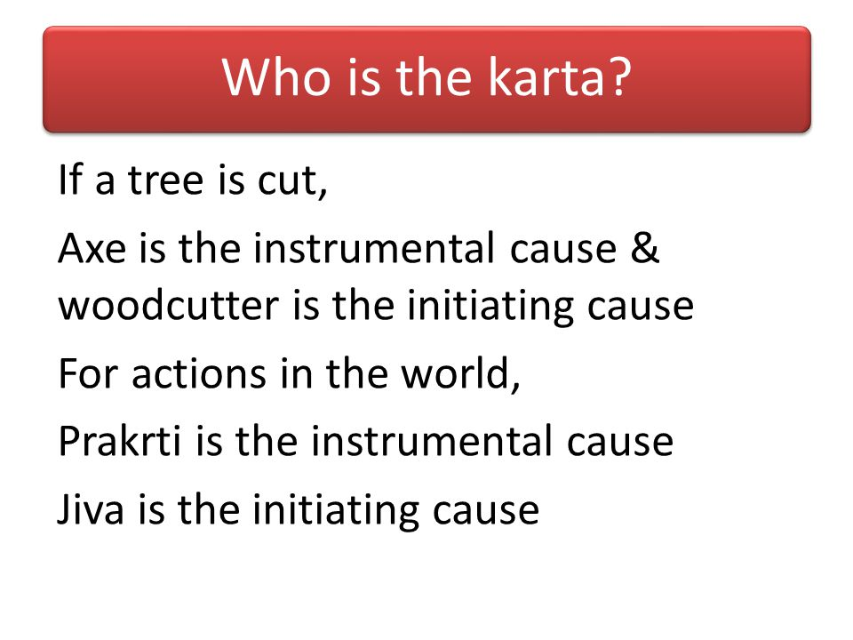 Who is the karta