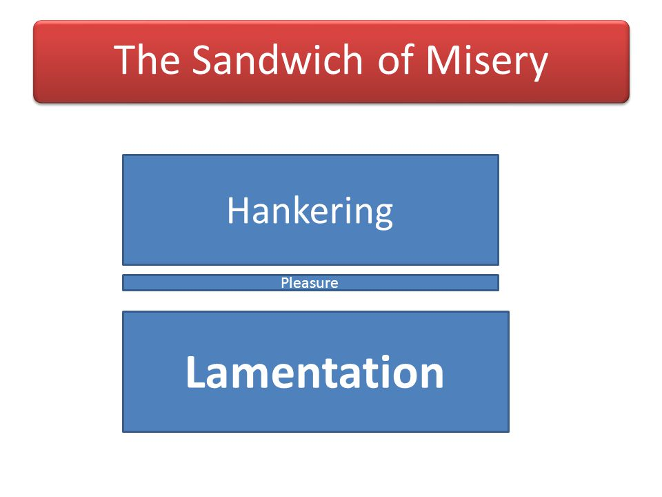 The Sandwich of Misery Hankering Pleasure Lamentation