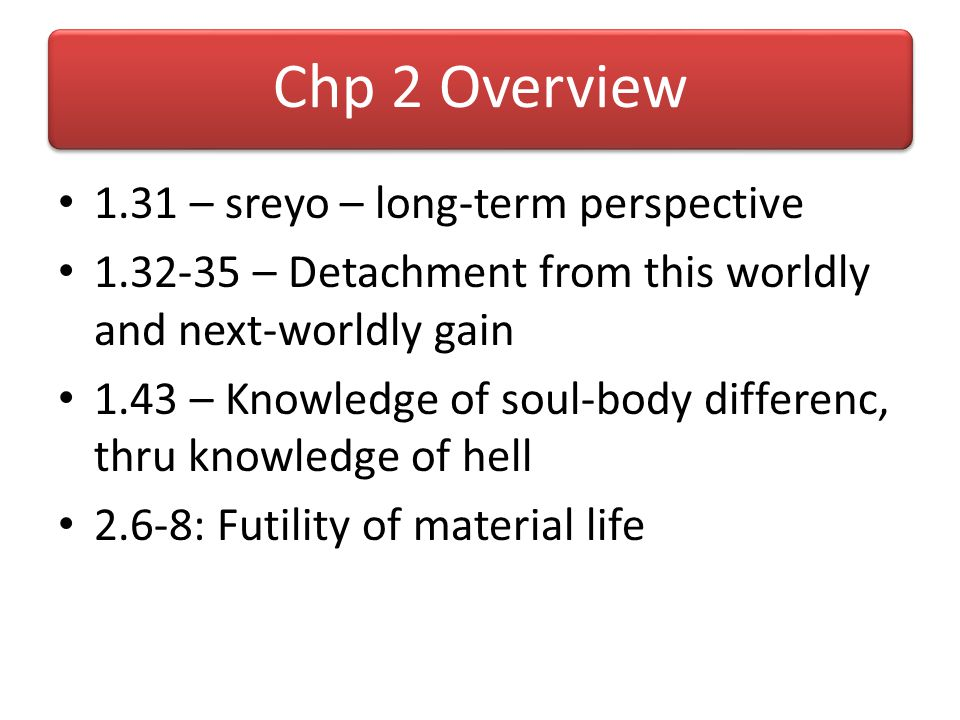 Chp 2 Overview 1.31 – sreyo – long-term perspective