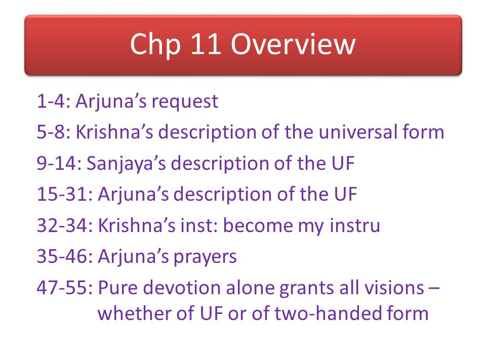 Chp 11 Overview