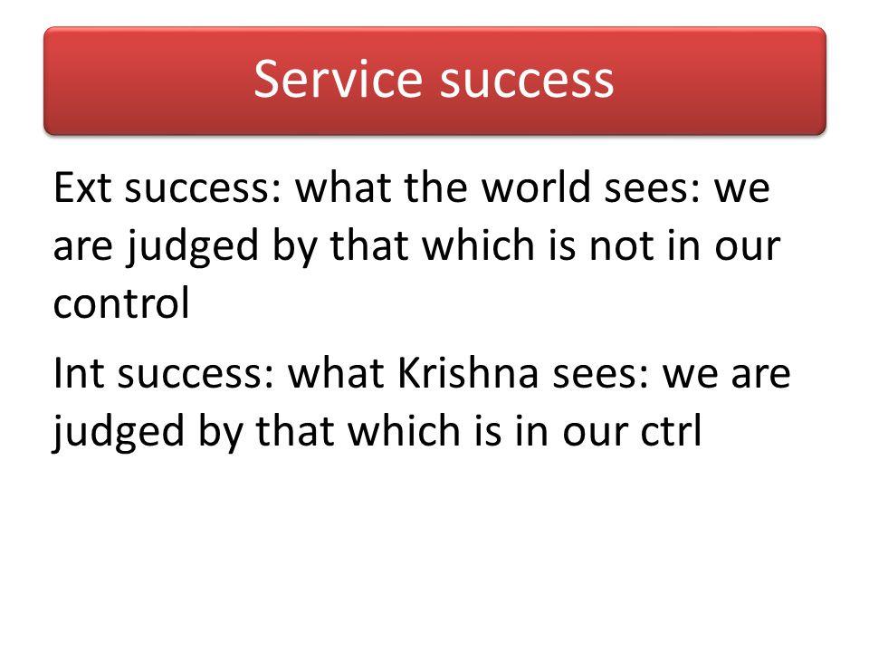 Service success