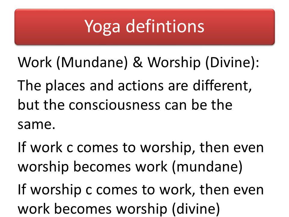 Yoga defintions