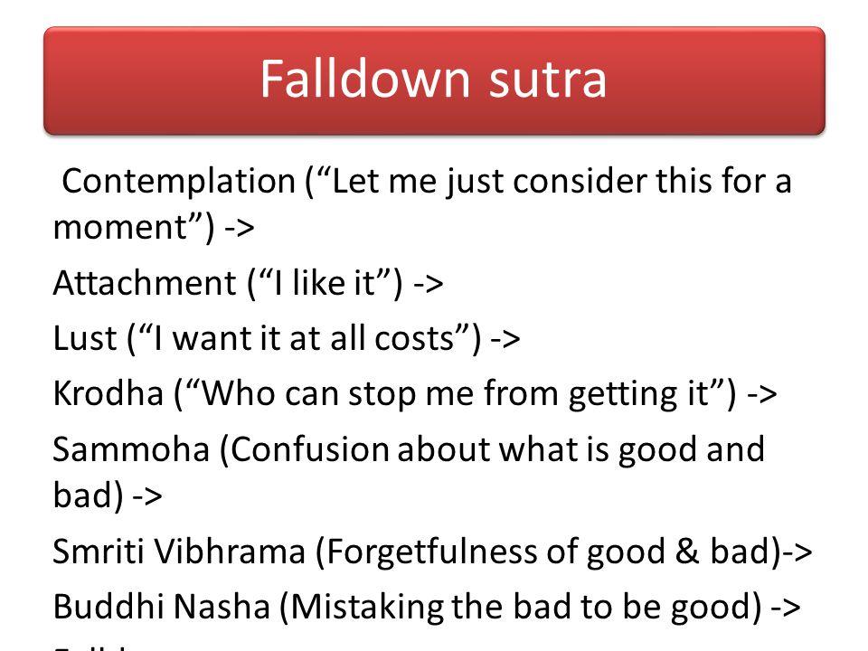 Falldown sutra