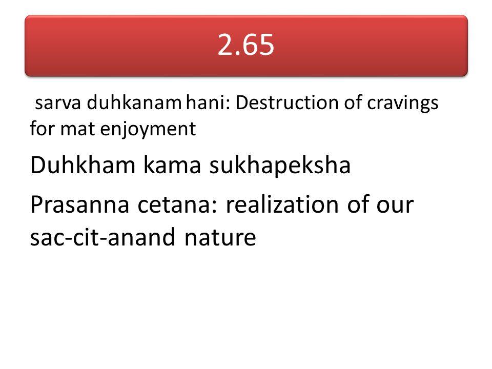 2.65 Duhkham kama sukhapeksha