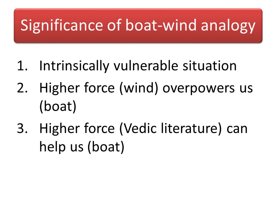 Significance of boat-wind analogy