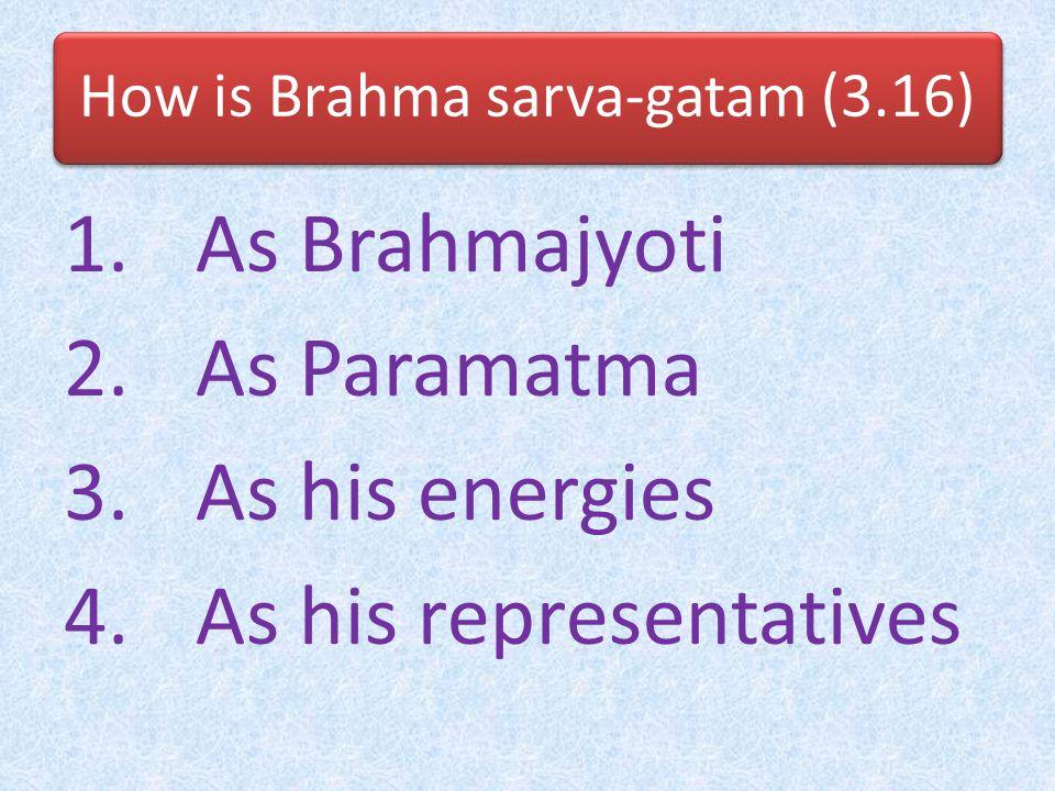 How is Brahma sarva-gatam (3.16)