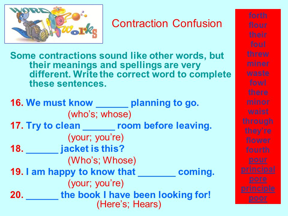 Contraction Confusion