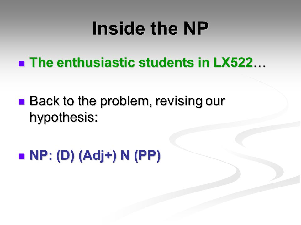 Inside the NP The enthusiastic students in LX522…