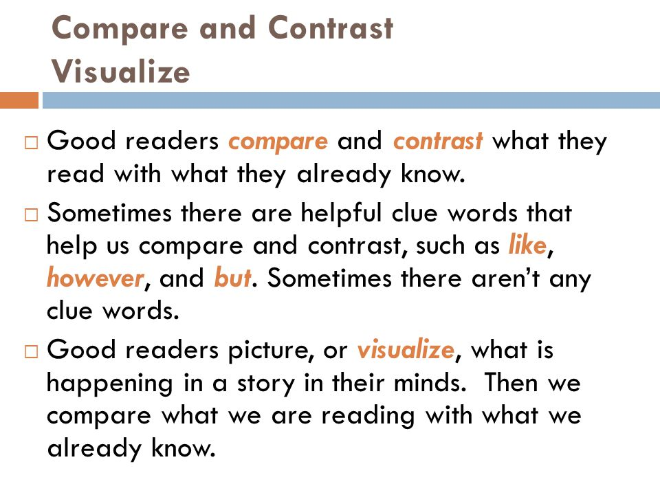 Compare and Contrast Visualize