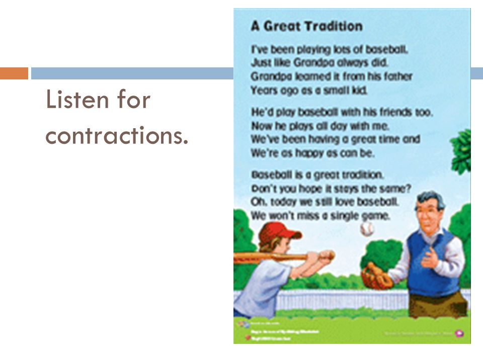 Listen for contractions.