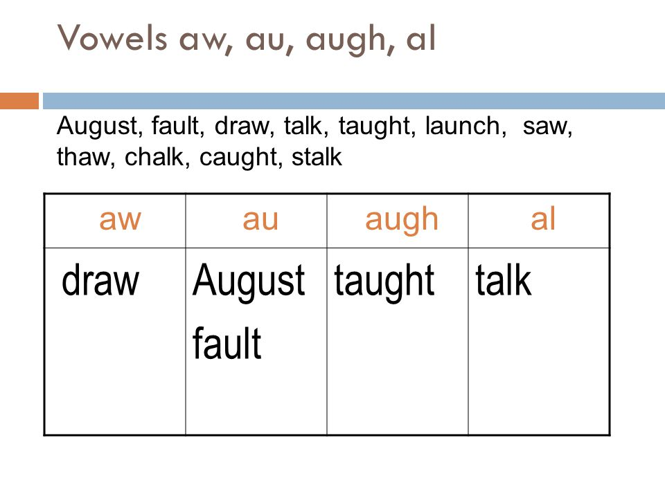 draw August fault taught talk