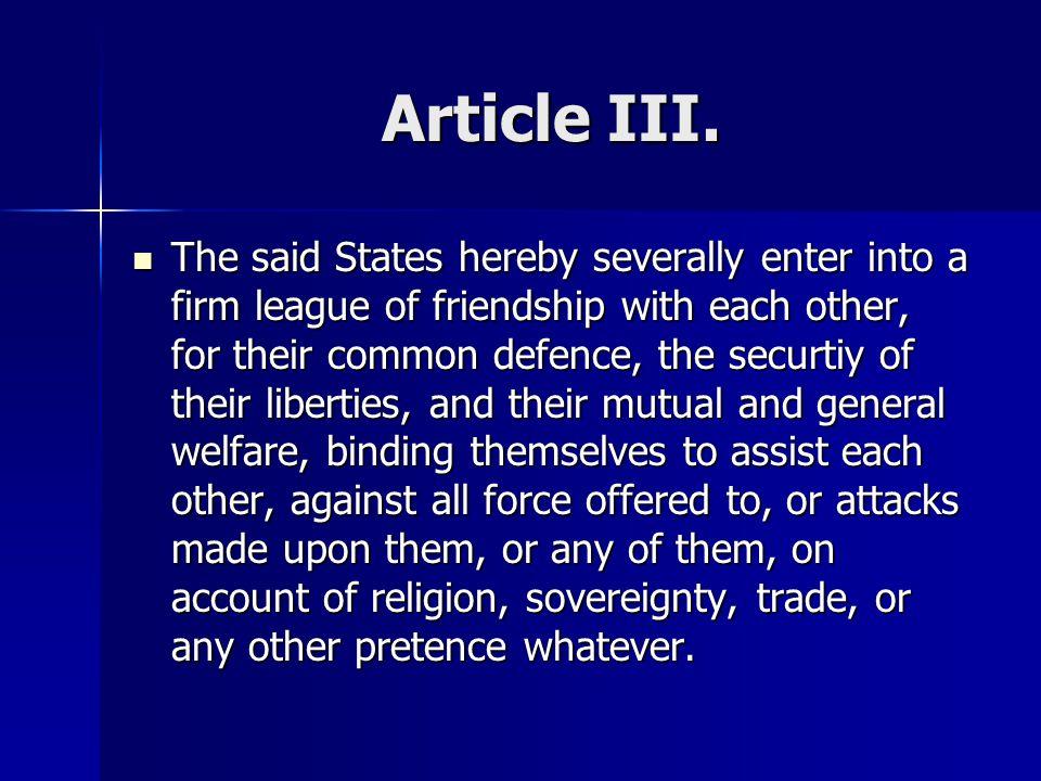 Article III.