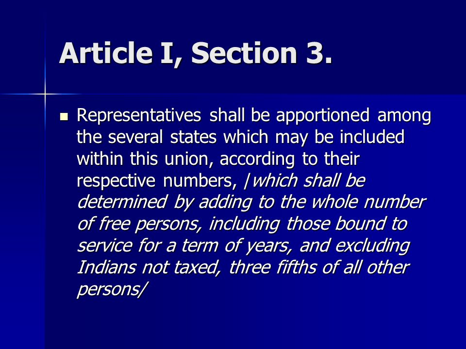 Article I, Section 3.