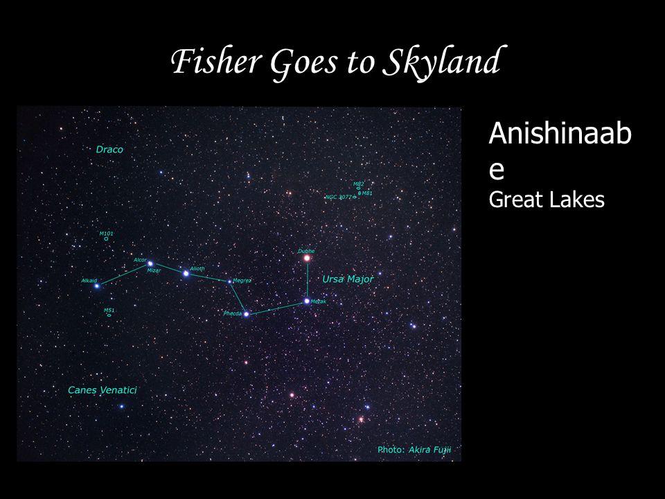 Fisher Goes to Skyland Anishinaabe Great Lakes