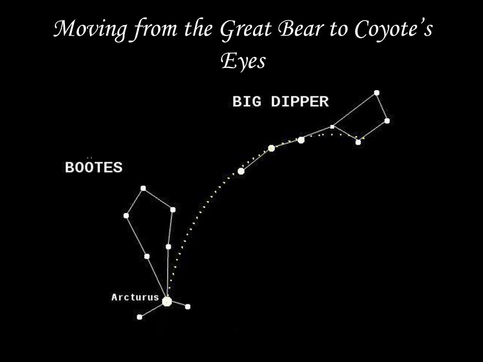 Moving from the Great Bear to Coyote's Eyes