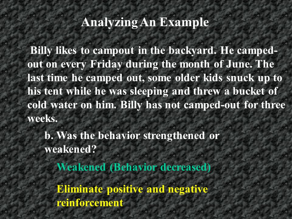 Analyzing An Example