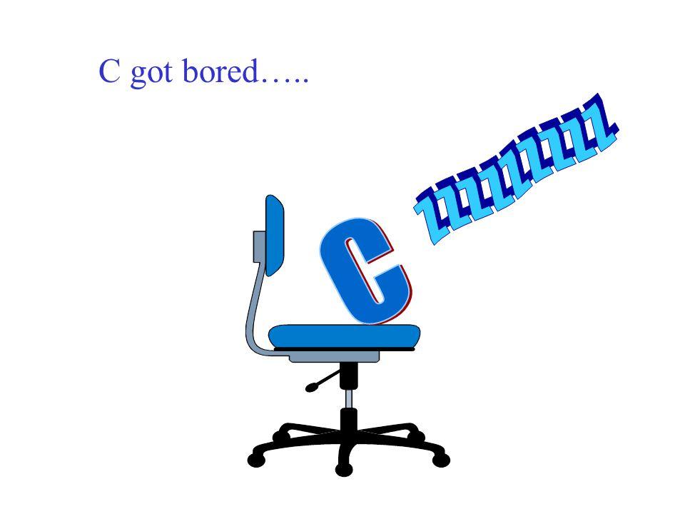 C got bored….. Z Z Z Z Z Z Z Z Z C